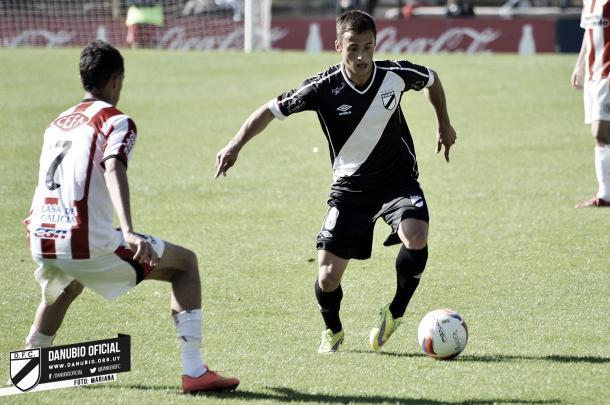 Marcelo Saracchi en Danubio. Fuente: Danubio Oficial