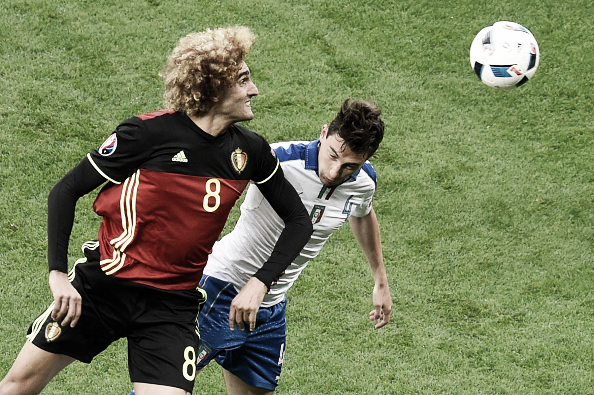 Fellaini and Darmian both reached the quarter-finals without being hugely involved | Photo: AFP/ Jean-Philippe Ksiazek
