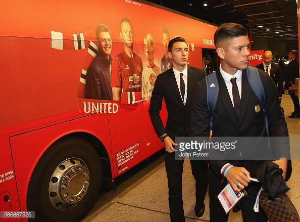 Darmian has been kept out of the side by plenty of full-backs, including Rojo | Photo: John Peters/ Man United via Getty Images)