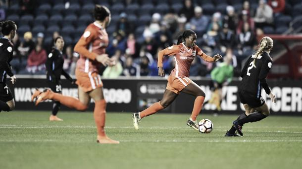 Nichelle Prince with the Houston Dash | Photo: NWSLsoccer.com