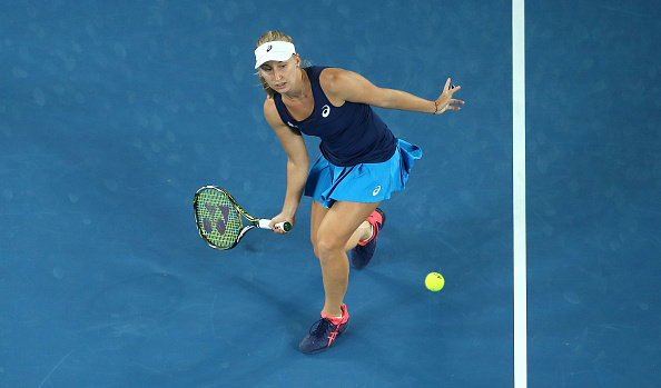 Gavrilova is the last remaining Austalian in the singles draw (Photo by Pat Scala / Getty Images)
