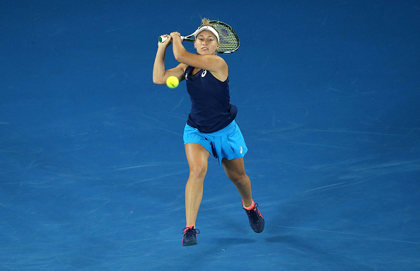 Gavrilova had ups and downs in her match with Bacsinszky (Photo by Pat Scala / Getty Images)