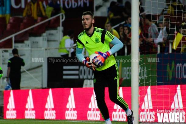 De Gea con la selección española.   Foto: Juan Ignacio Lechuga (VAVEL)