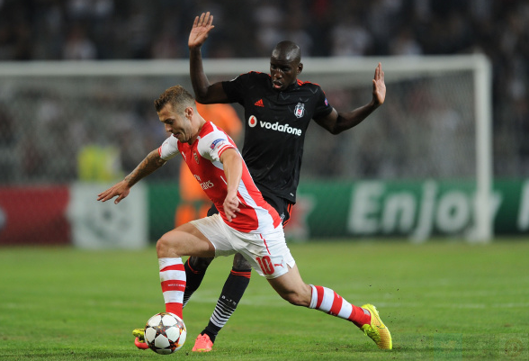 Demba Ba (far right) was certainly a handful for Arsenal to contend with, when at Besiktas in the following campaign. | Photo: Getty Images