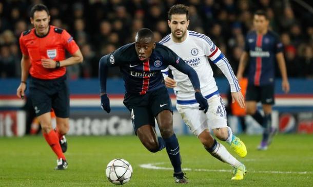 Matuidi in azione contro il Chelsea | Foto: theguardian.com