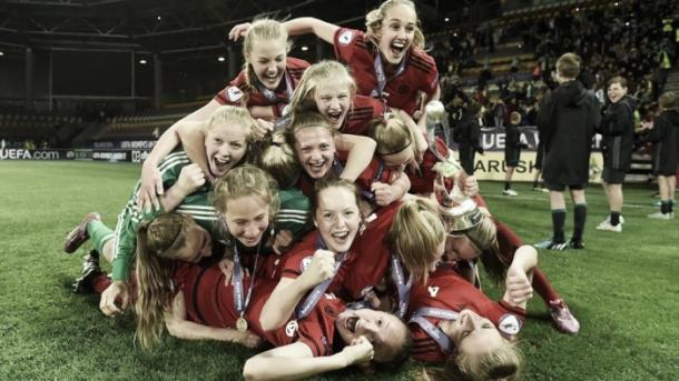 Pawollek was instrumental in Germany's success in Belarus this year. (Photo: UEFA)