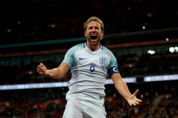 Kane celebrando uno de los goles en la fase de clasificación para el Mundial | FOTO: talkSPORT