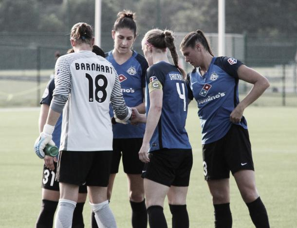 The whole of the FC Kansas City starting back four was included in Monday's roster updates. (Photo source: Emily Kesel)