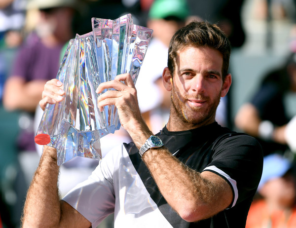 Juan Martin del Potro won his first Masters 1000 title earlier this year in Indian Wells. Photo: Harry How/Getty Images