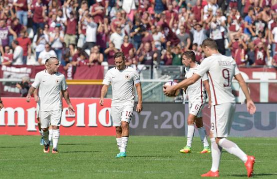 La delusione dei giocatori della Roma