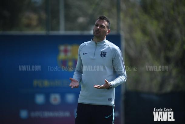 Imagen de Denis Silva, técnico del Juvenil A del FC Barcelona. FOTO: Noelia Déniz