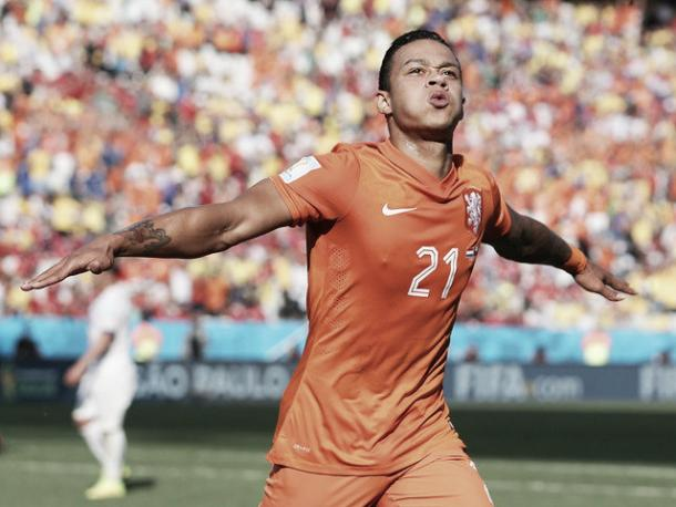 Memphis Depay en su primer gol con la absoluta / Foto: Onsoranje.nl