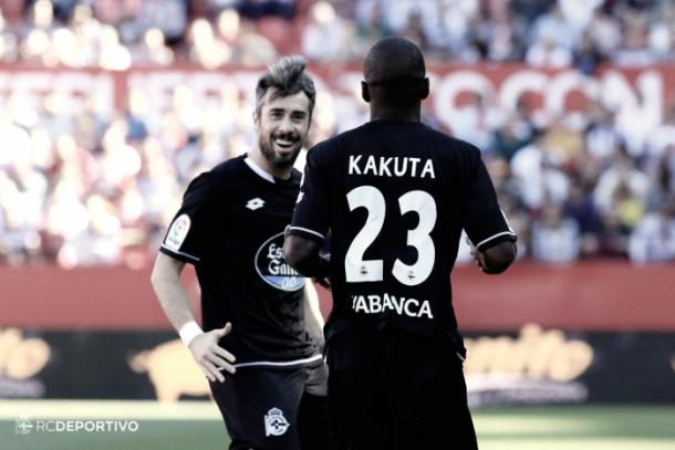 Kakuta celebrando un gol/  Fuente: R.C.Deportivo