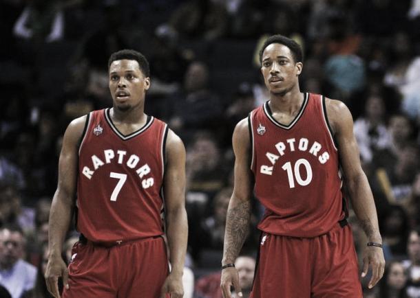 Lowry (7) y DeRozan (10), los líderes de los Raptors | Foto: USA Today