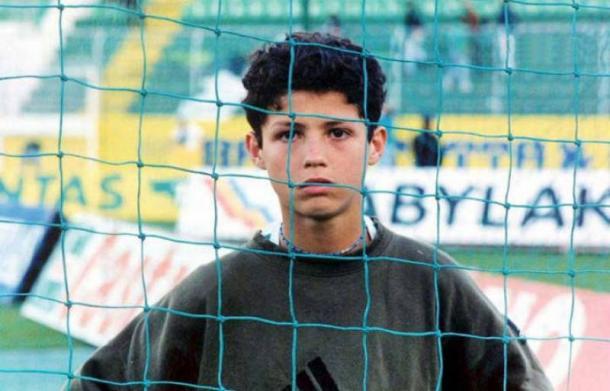 Cristiano Ronaldo de pequeño