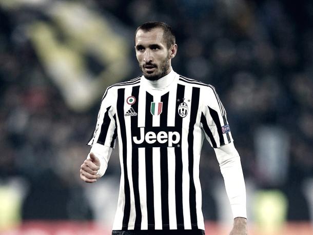 Chiellini podría ser titular tras su lesión. Foto: Juventus FC.