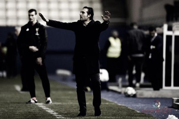 Rubén Baraja durante un partido | Fotografía: La Liga