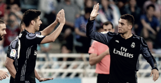 Marco Asensio y Mateo Kovacic celebran un gol   Foto: Real Madrid