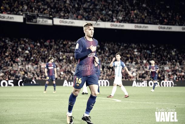 Deulofeu en el partido liguero contra el Málaga