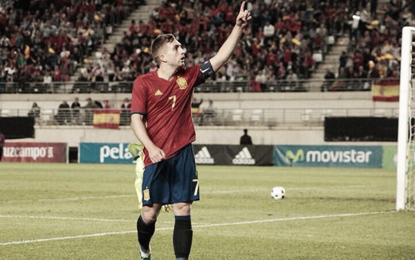 Gerard Deulofeu scored his 14th goal in 26 appearances for Spain's Under-21 side on Monday. | Photo: Liverpool Echo
