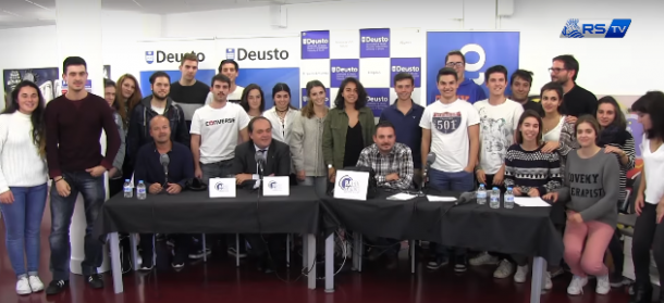 Estudiantes de la Universidad de Deusto con Aperribay