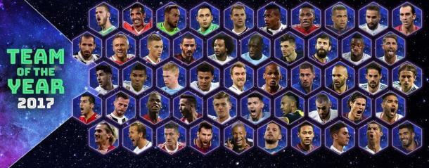 Todos os selecionados | Foto: Divulgação/Uefa