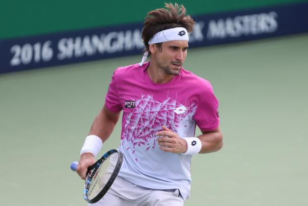 Ferrer at the Shanghai Rolex Masters (Photo by Zhong Zhi/Getty Images)
