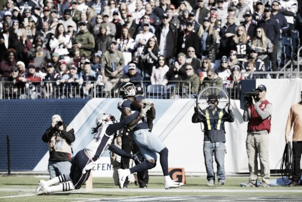 Corey Davis en su touchdown | Foto: Titansonline.com