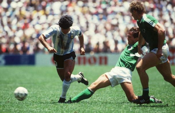 Argentina vs Alemania en la Final de México 1986   Foto: FIFA