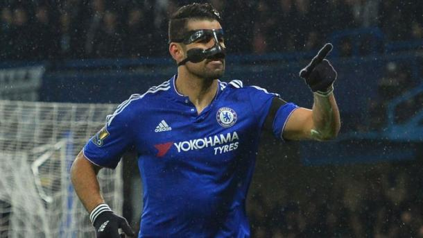 Diego Costa scoring. Photo: Sky Sports