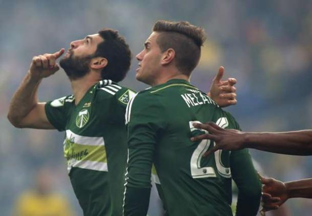 Diego Valeri (Left) and Lucas Melano (Right) will need to be the catalysts for Portland's attack on Saturday. Photo provided by Trevor Ruszkowski-USA TODAY Sports.