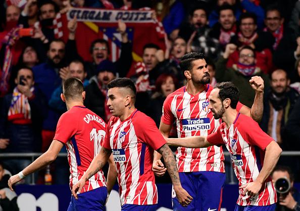 Diego Costa foi a principal arma colchonera no primeiro tempo | Foto: Pierre-Philippe Marcou/Getty Images