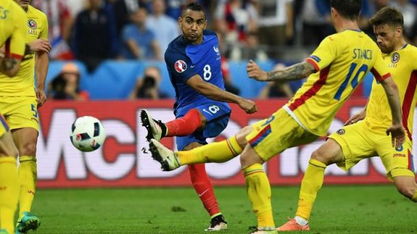 Above: Dimitri Payet in action for France in their 2-1 win over Romania | Photo: Sky Sports