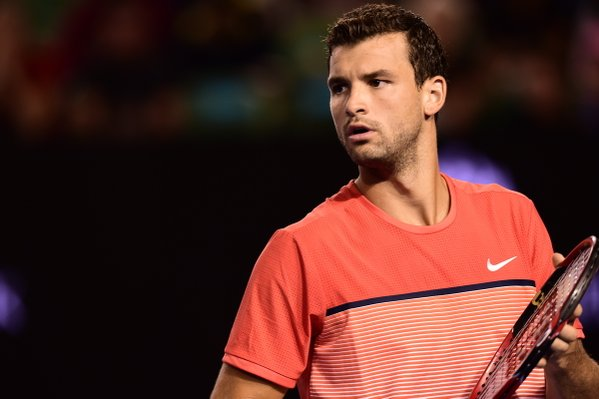 Grigor Dimitrov put up a spirited fight, but in the end his idol had too much. (Source: Australian Open Twitter)