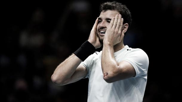 Dimitrov celebra su victoria en las ATP Finals. Foto: Zimbio