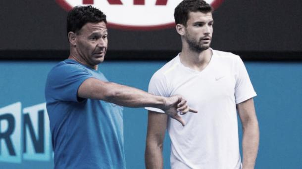 Dimitrov rompió con Roger Rasheed en 2015. Foto: Australian Open