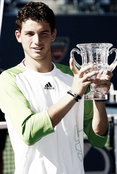 Dimitrov posa como campeón del US Open junior. Foto: US Open