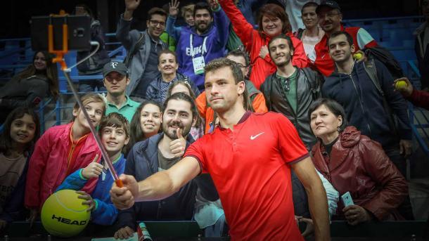 Grigor Dimitrov in Istanbul. Photo: Koza World of Sports