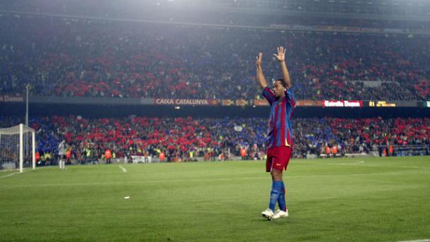 Ronaldinho fue el dios de los culés   Foto: FCB