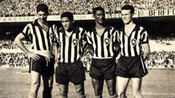 Nilton Santos, Garrincha, Didi e Zagallo: um dos maiores times da história do Glorioso (Foto: Divulgação/Botafogo)