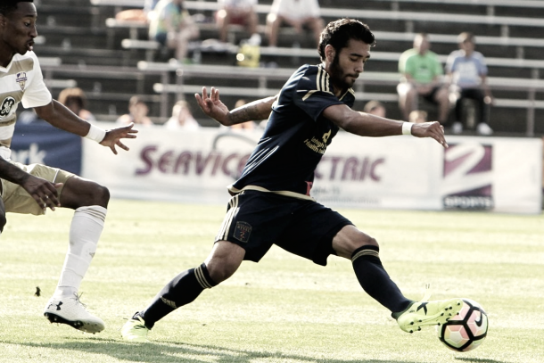 Real facing off against Louisville City FC. | Photo: Bethlehem Steel