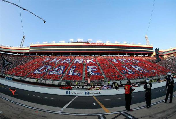 Bristol Motor Sppedway and the fans paid tribute to Dale Earnhardt Jr pre-race | Picture Credit: Matt Sullivan - Getty Images