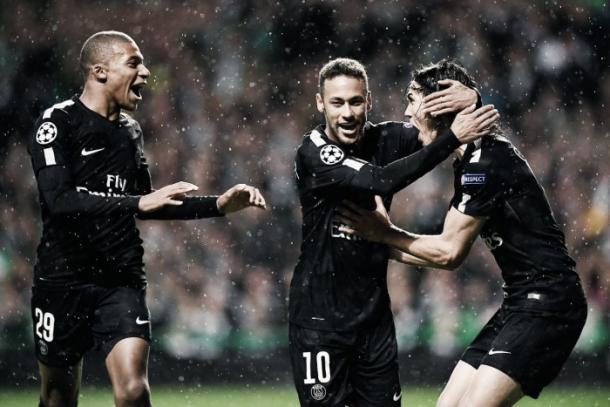 La MCN celebra un gol. || Imagen: PSG