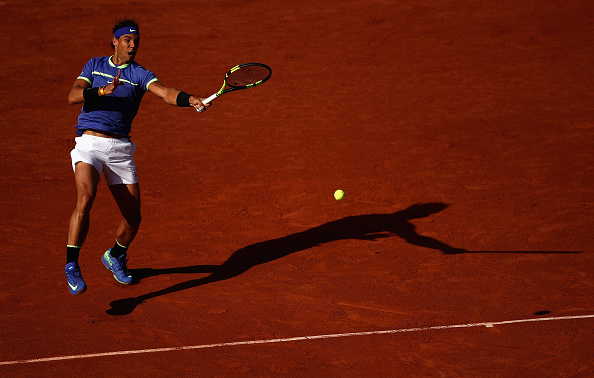 Rafael Nadal strikes a forehand shot (Photo: Julian Finney/Getty Images)