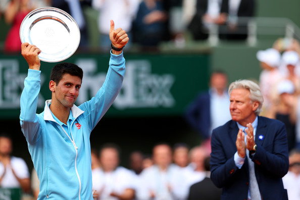 A dejected Djokovic fell short to Nadal once more in Paris in 2014 (Photo by Clive Brunskill / Getty)