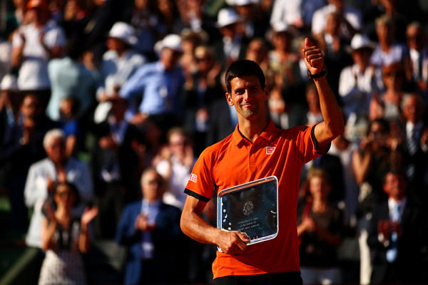 Djokovic finally embraced the crowd at the French Open in 2015 (Photo by Dan Istitene / Getty)
