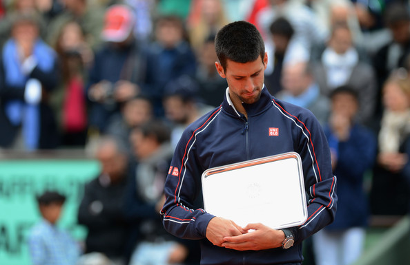 The Serb was unable to win four consecutive Grand Slams after losing to Nadal in his first French Open final in 2012 (Photo by Mike Hewitt / Getty)