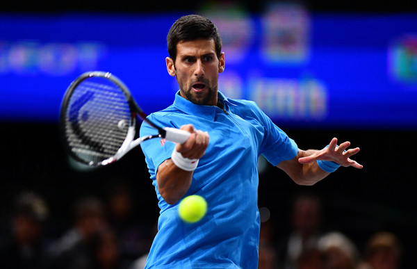 Djokovic in action against Dimitrov (Photo by Dan Mullan / Getty Images)