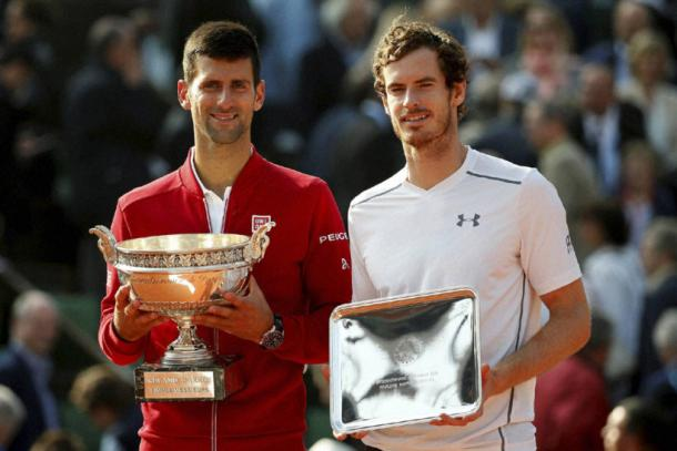 Novak Djokovic e Andy Murray al Roland Garros 2016 | Photo: Reuters