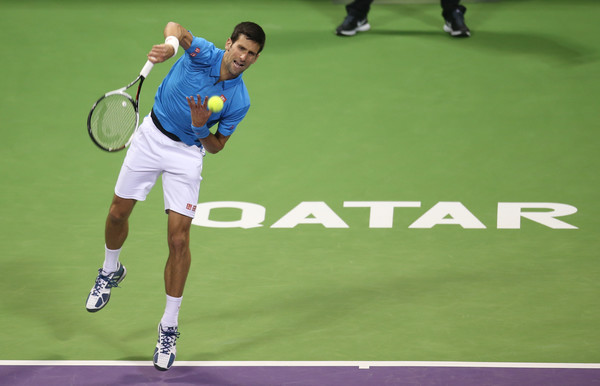 Djokovic will be looking to retain his title in Doha and record his 25th victory over Murray (Photo by AK BijuRaj / Getty Images)